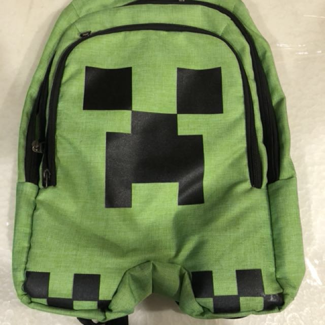 798ec1e0f3 Minecraft Green Creeper Backpack