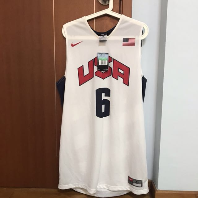 best service 30321 d5a54 Nike Lebron James Team USA Authentic Jersey Brand New XL