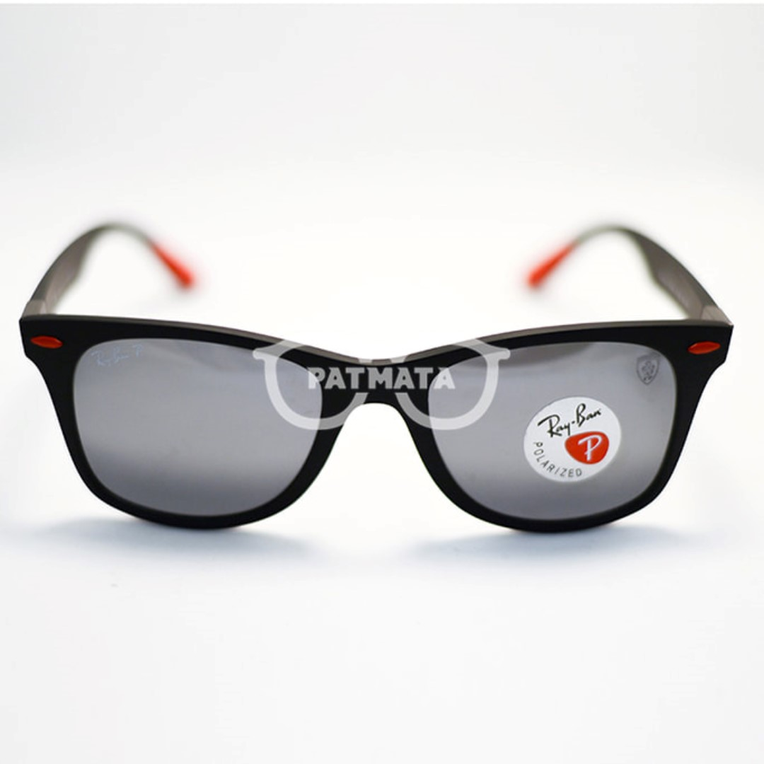 d88a801552 ORIGINAL FERRARI LITEFORCE LENS SILVER MIRROR POLARIZED RB4195 F602 ...