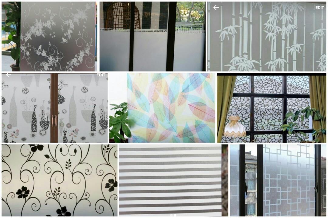 Privacy Frosted Film For Windows Doors Glass Panel Furniture Home