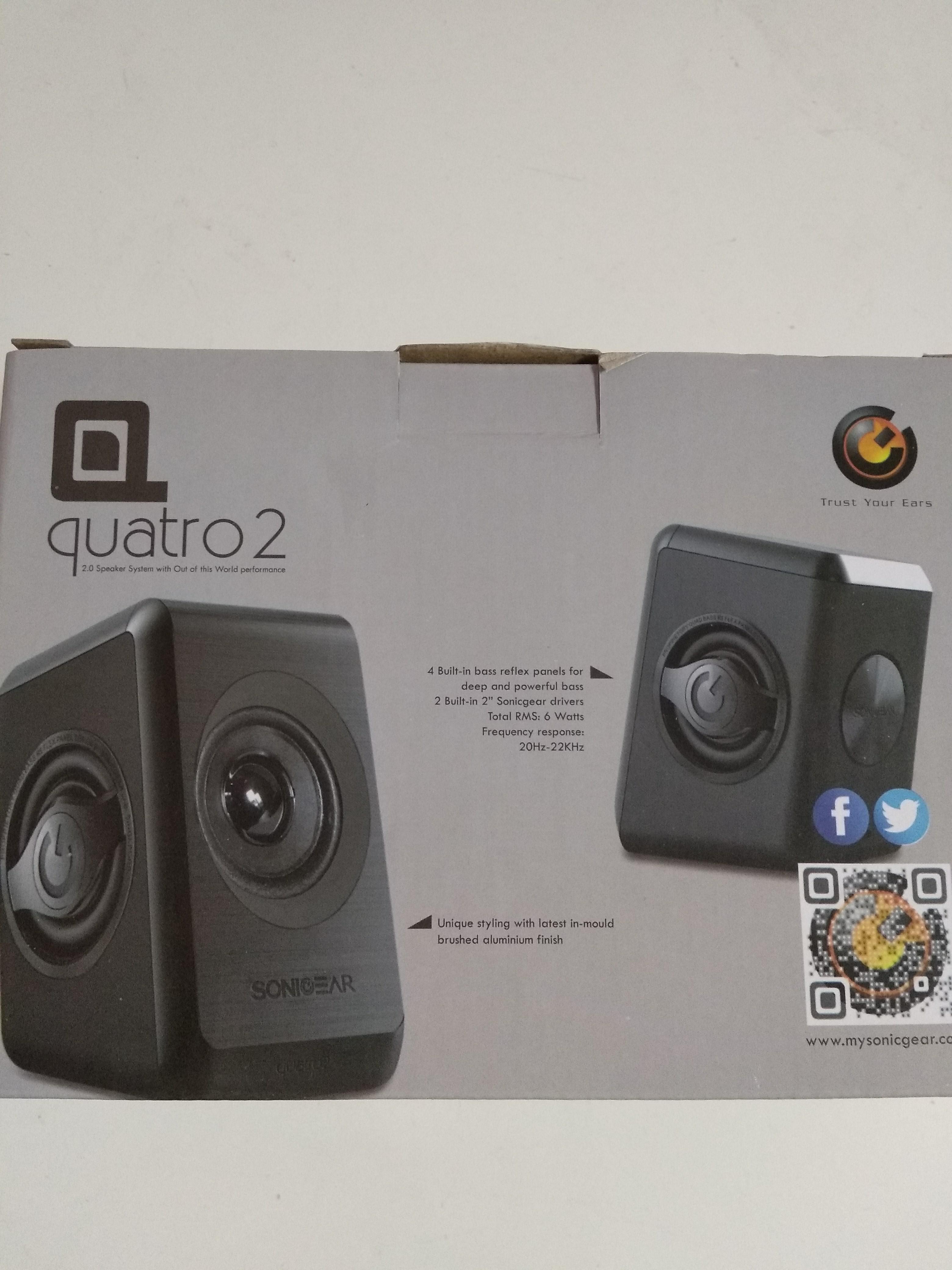 Quatro 2 Sonic Gear Speaker Electronics Audio On Carousell