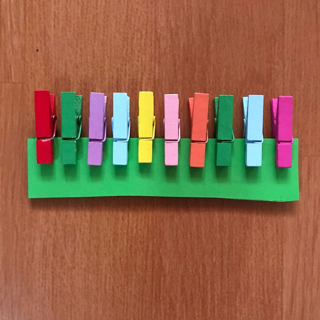 rainbow wooden clip / penjepit kayu