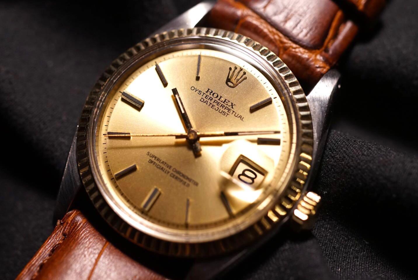 Rolex 1601 Datejust SIGMA Half Gold