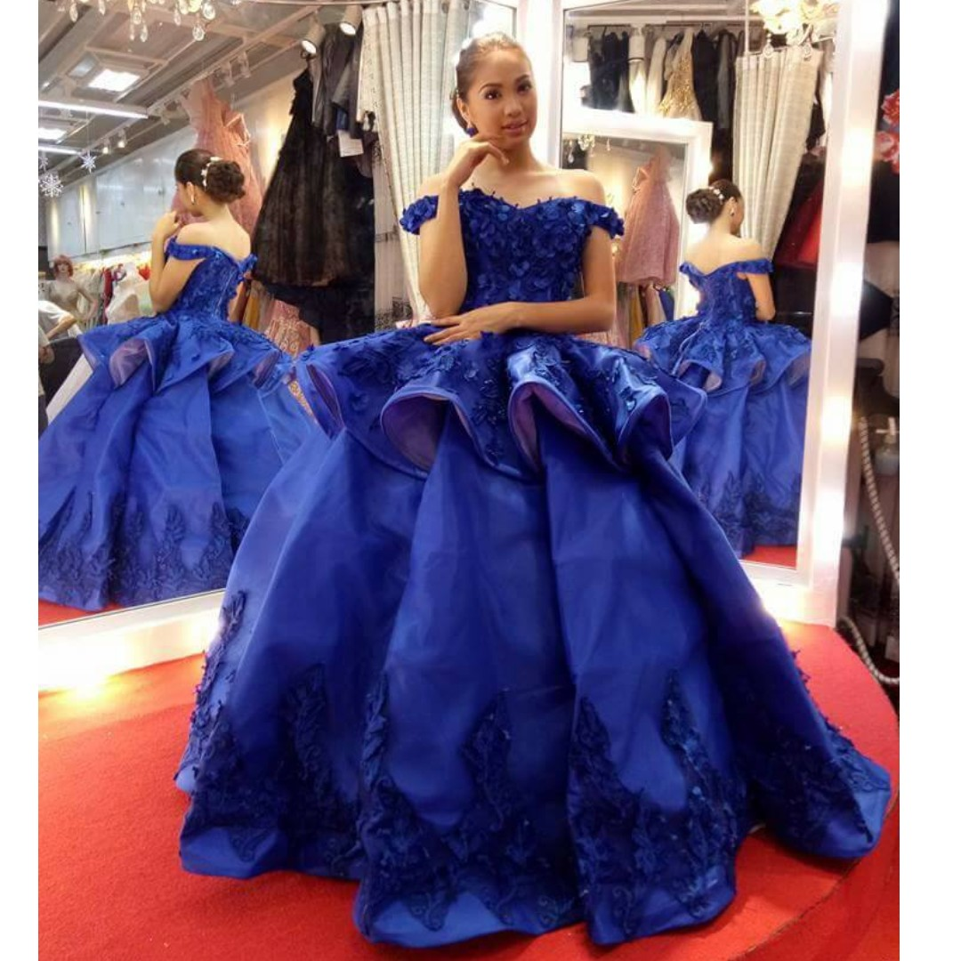 ROYAL BLUE BALL GOWN, Luxury, Apparel on Carousell
