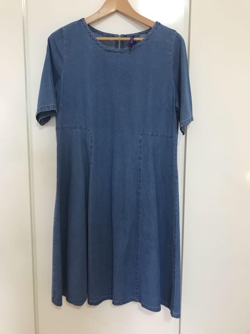 992a2c22c8295 Seraphine denim maternity dress, UK 10, Babies & Kids, Maternity on ...