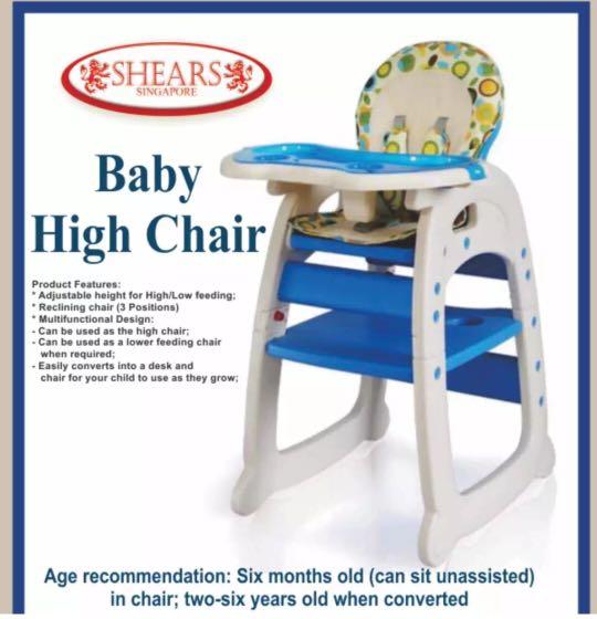 Shears Baby High Chair Infant Feeding Seat 3in1 Toddler Table Es Kids Nursing On Carou
