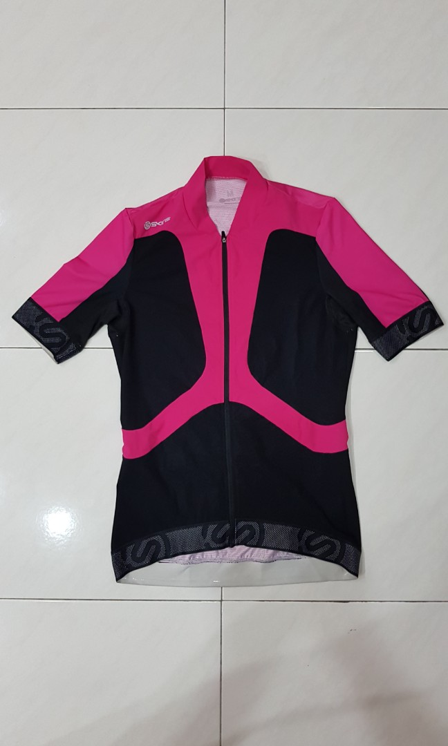 Skins Cycle Women s Tremola Jersey Short-Sleeve Black Pink a49746d9f