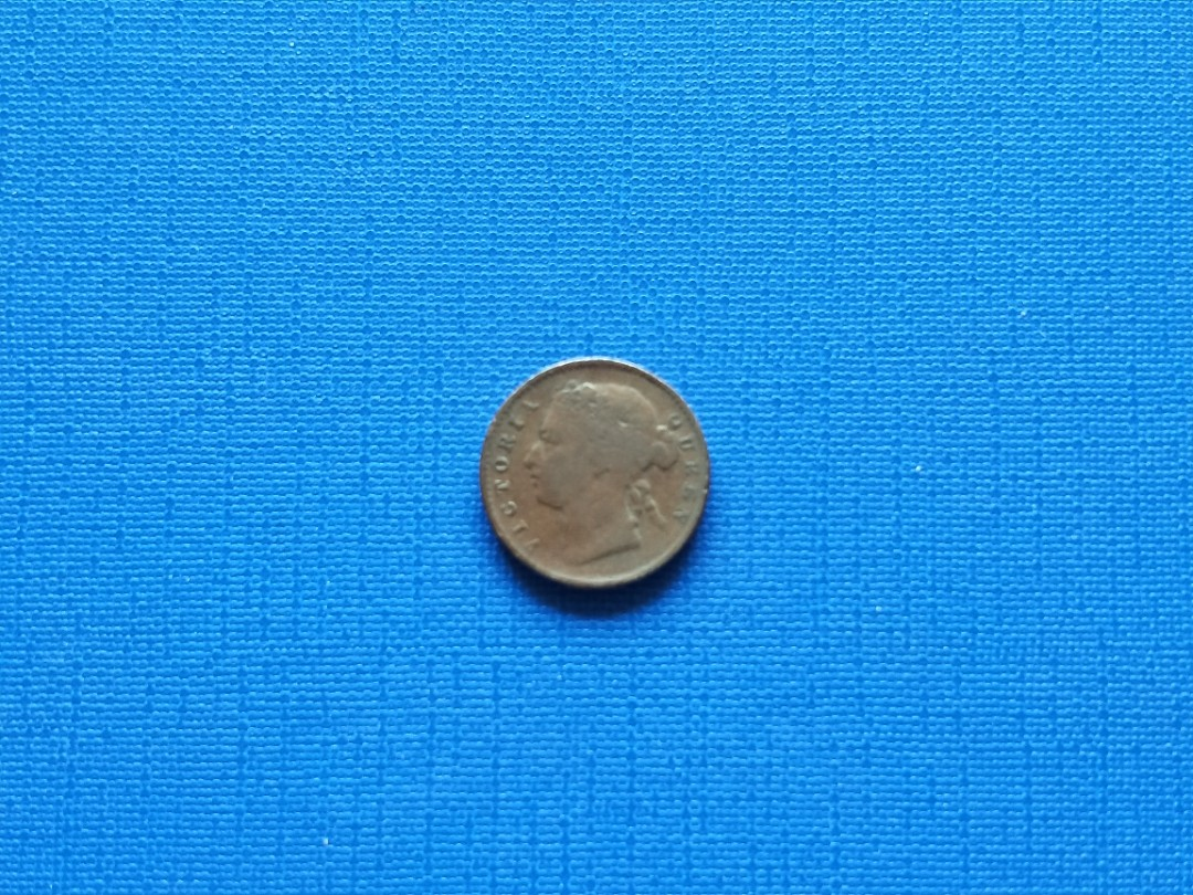 Strait settlement Queen Victoria quarter cent coin 1873