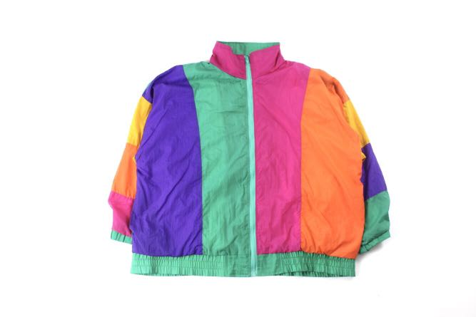 Vintage Multicoloured Windbreaker