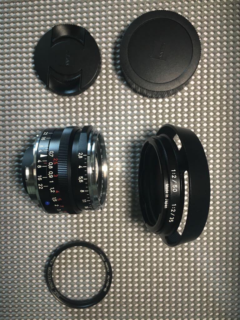Zeiss ZM C Biogon 35mm F2 8 Black w Original Hood