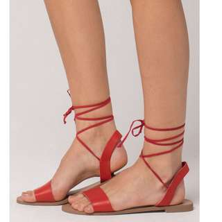 DEL MAR Ankle Wrap Womens Sandals/USA