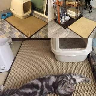 🚚 雙層散熱防濺貓砂盆腳踏墊