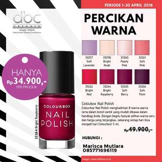 Oriflame Colourbox Nail Polish/Kutek