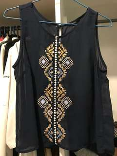 Forever 21 Sheer Top with Open Back