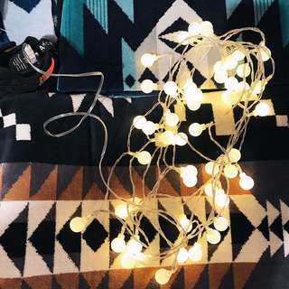 🌲 LED 歐美經典療癒小白球燈串 露營燈氣氛燈小夜燈佈置裝飾品 USB 插頭 電池