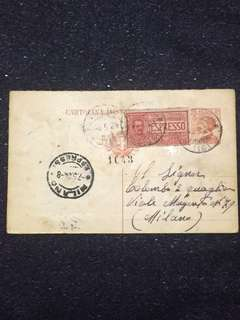 Italy 1924 30c Emmanuel III Special Delivery Postal Card