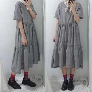 。error dot。日本鄉村格紋蛋糕洋裝