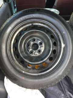 4pcs 15' inch steel rims