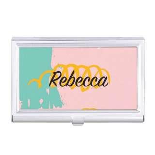 Custom Made Card Holder Personalised Name Logo Wedding Bridesmaid Birthday Gift