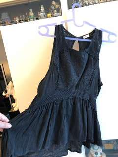 Hollister black lace top