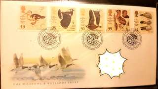 Royal mail first day cover - the wildfowl & wetlands trust 12 March 1996