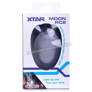 XTAR MOON RC2 120lm 2200mAh Rechargeable Hands-free Lamp - Blue / Grey