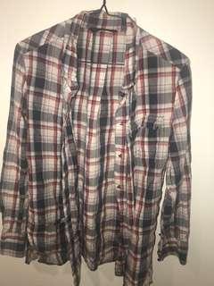 Red and white checkered shirt