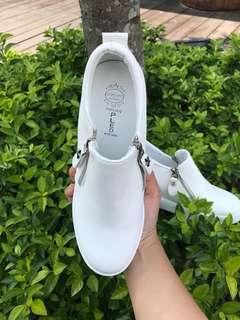 雙拉鍊厚底增高鞋