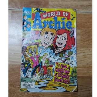 "Archie comics(No.5)-World of Archie: ""I had a crush on a Teenage Vampire!"""