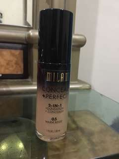 Milani conceal+ perfect foundation