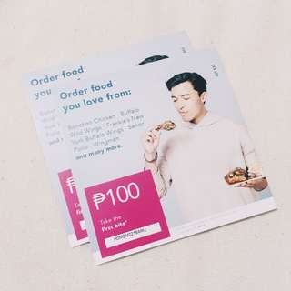 PHP200 worth FOOD PANDA vouchers