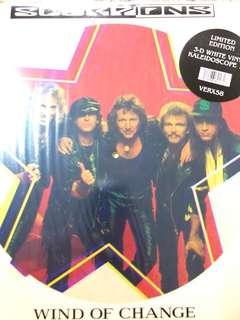 "Scorpions  - wind of change 12"" coloured vinyl"