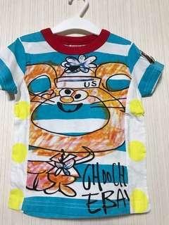 日本Joyful-4Y藍色純棉上衣