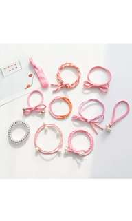 *In Stock* BN 10pcs Korean Style Fashion Girls Women Hair Bow Knot Tie Accessories (Sweet Pink)