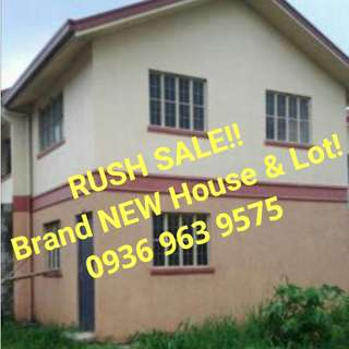 RUSH SALE!! Brand NEW House and Lot (corner lot)