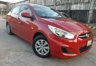 FOR SALE NEW ARRIVAL  CASH PAYMENT / BANK FINANCING ✔Hyundai Accent E 1.4L CVT 2017 Automatic Red  For more details contact: 0917494644/ 09087075589