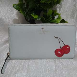 Authentic Kate Spade Magnolia Bakery Cherry on top Lacey Long Wallet