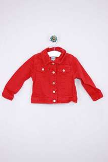 Old navy red 3/4 denim jacket