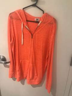 Old navy neon orange hoodie shirt