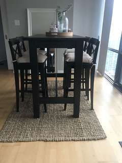 Brand New Bar Dining Table and Stools with Cushions