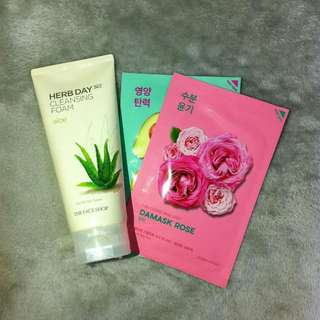 THE FACE SHOP Herb Day 365 Aloe Cleansing Foam