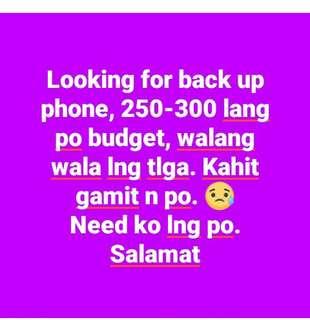 Pang back up phone.