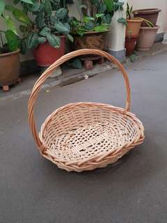 Beige Rattan Basket