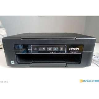 90%新,Epson XP245 printer,有單,連原廠墨(已放入Printer使用),有半年保養