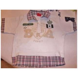 Esprit - Short Sleeve T-shirt with collar