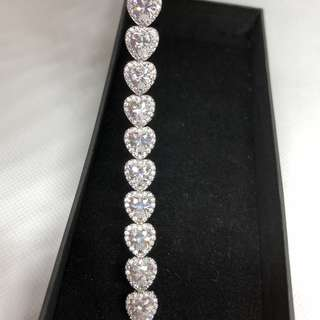 Heart shaped Cz Bracelet