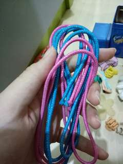 PINK BLUE HAIR RIBBON / PINK BLUE HAIR TIE (/PCS)