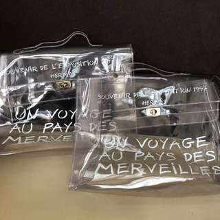 Authentic Hermes Clear Kelly Bag [Limited Edition]