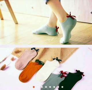 SOCKS!!! Imported ladies' socks with ribbon accent FOR PRE-ORDER