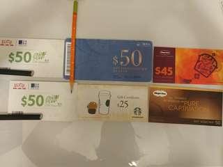 鴻福堂 Starbucks 三聯書店 Haagen Daz cash vouchers 現金券